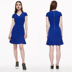 Betsey Johnson Ruffling It Up Dress Ultramarine 8